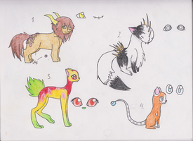 Adoptables! :3 by AnnissXD