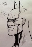 Batman Sketch..............Ink by LeeArt-Uk