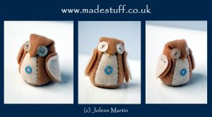 Little 'O' felt owl by madestuff
