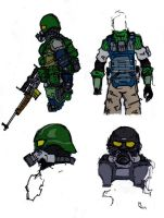 Combat Suit concepts by darkpaladin07