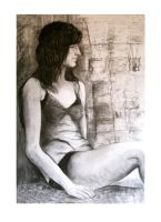 Patchwork girl- figure drawing by ADriana-XST