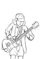 Angus  Young by wdychamklej