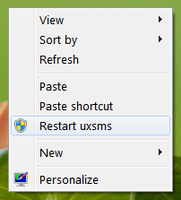Add Restart uxsms Option by Vishal-Gupta