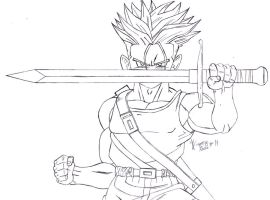 Request: Trunks - Lineart by Jorgee-alveS17