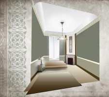 Arts and Crafts bedroom previz by hecestmoi