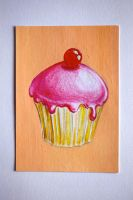 Yummy cupcake ATC by jeffzz111