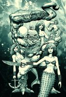Mermaids and mutant by jmmk86