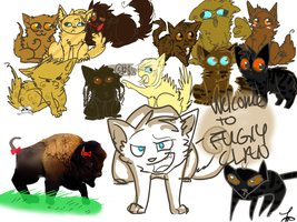 Cats Of Fuglyclan by AutumLeavesofFall