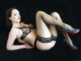 Girlie-Girl In Black Lace by Snapfoto