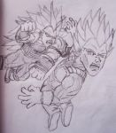 What if Raditz VS Vegeta by RyotNytefall
