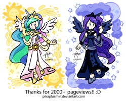 MLP FiM: Princesses of Equestria by pikaplusmin