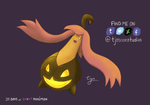 Day 1: Gourgeist - 31 Days of Ghost Pokemon by tjmoonstudios