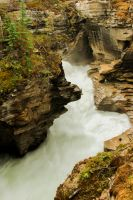 Athabasca Falls by KRHPhotography