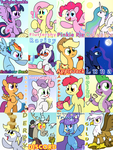 13 Ponies, a Dragon, a Griffon and Discord by 041744