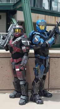 Red VS Blue by Ronin427