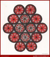Fourteen Flowers Mandala Finished by Quaddles-Roost