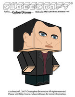 Cubeecraft - The 9th Doctor by CyberDrone