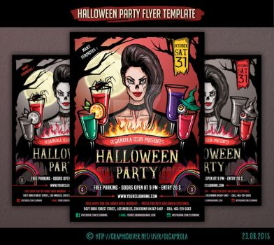 Halloween Party Flyer Template #2 by olgameola