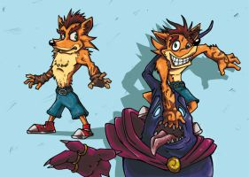 Crash Bandicoot time by Lukos-PNP