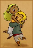 Link and Tetra: Happy Couple by BeagleTsuin