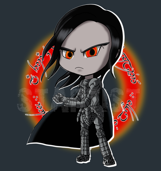 Chibi Sauron -- Suiting Up for Battle by StartistMakesArt