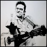 Johnny Cash by BlackhawksWin76