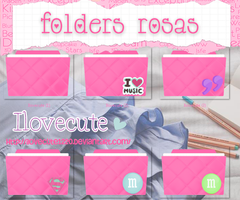 Folders Rosas by IloveCute1220