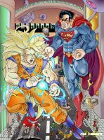 Son Goku X Superman by RODYTSUMURA