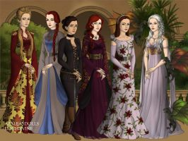 Game of Thrones Ladies Pt.1 by BlackRoseOfSummer