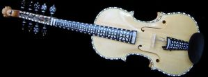 My own finished Hardanger fiddle by deviantviolins