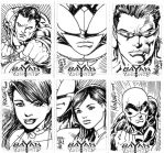 Bayan Knights sketchcards19-24 by gammaknight