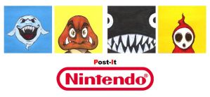 POST IT NINTENDO S1 by QuinteroART