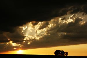 Stormy Country Sunset by BAGilligan