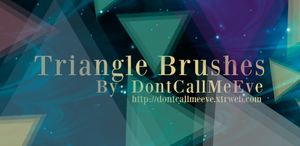 Triangle Brushes by DontCallMeEve