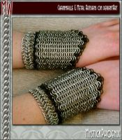 Chainmail Bracers Female by metalweavers