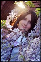 Nyotalia Austria - Amidst the Flowers by Nazu-chan