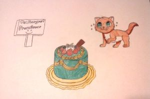 Strawberry Short Cake Orange Cat (Drawing) by OscarK9