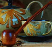 Caramel Pipe 12 Inch Highly Figured Myrtle PERSONA by FloggleWerks