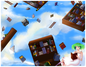 Cloudy with a Chance of Books by RZ-desu