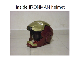 Inside IRONMAN helmet by ScannerJOE