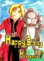 Happy Birthday Hiromu Arakawa!!! by uomie