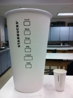 Giant Starbucks cup - Back view by etodorut