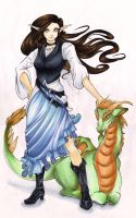 Faerie Girl and Dragon by Ranefea