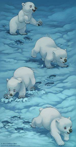 Polar Bear at Play by LCibos