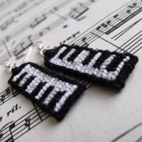 Piano earrings by letax