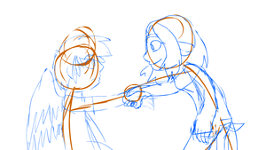 Fae and Ryan Animation WIP by bookfangeek