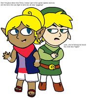 Tetra and Toon Link Switched Bodies by Starfighter364
