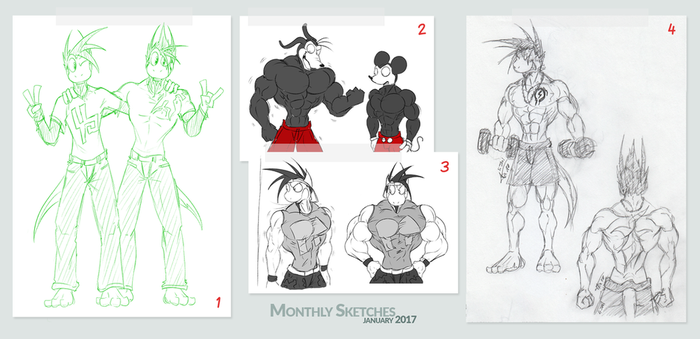 Monthly Sketches - January 2017 by McTaylis