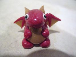 Magenta and Gold Mini Dragon by drakeo1903