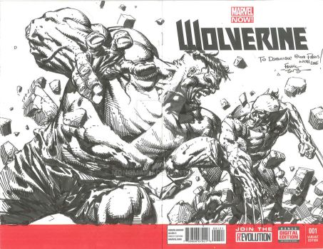 David Finch Wolverine vs Hulk 07 2013  by Monomakh